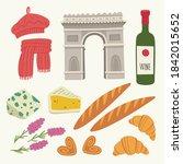 flat vector illustration with... | Shutterstock .eps vector #1842015652