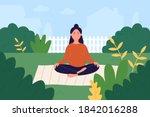 prenatal yoga vector...   Shutterstock .eps vector #1842016288
