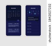 mobile app calendar design ui...