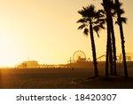 Santa Monica Pier Framed By...