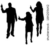 vector silhouette of a people... | Shutterstock .eps vector #184205642