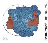 illustration of gemini...   Shutterstock .eps vector #1842060742