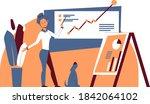 colorful business illustration... | Shutterstock .eps vector #1842064102