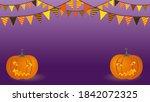 purple card for halloween... | Shutterstock . vector #1842072325