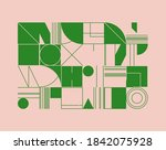 modern artwork of abstract... | Shutterstock .eps vector #1842075928