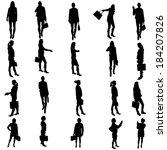 vector silhouette of business...   Shutterstock .eps vector #184207826
