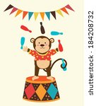 circus design over green... | Shutterstock .eps vector #184208732