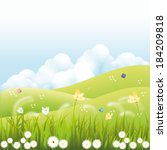 abstract spring background with ... | Shutterstock .eps vector #184209818