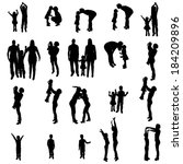 vector silhouette of people on... | Shutterstock .eps vector #184209896
