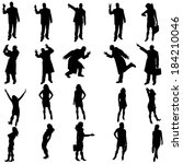 vector silhouettes of different ... | Shutterstock .eps vector #184210046