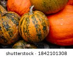 Diverse Assortment Of Pumpkins. ...