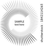 black radial rotated lines in...   Shutterstock .eps vector #1842114265