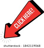 click here button with arrow | Shutterstock .eps vector #1842119068