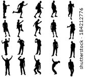 vector silhouettes of different ... | Shutterstock .eps vector #184212776