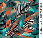 abstract seamless grunge... | Shutterstock .eps vector #1842135028