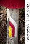 Hike Signs Color Lines In Wood...