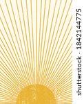 abstract sun print boho... | Shutterstock .eps vector #1842144775