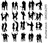 vector silhouette of people who ... | Shutterstock .eps vector #184216295