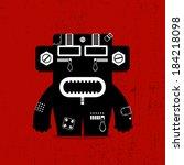 monster on grunge background | Shutterstock .eps vector #184218098