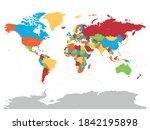 world map. high detailed... | Shutterstock .eps vector #1842195898