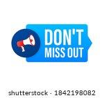 hand holding megaphone   dont... | Shutterstock .eps vector #1842198082