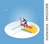 stop time concept  businessman... | Shutterstock .eps vector #1842224308