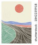 creative minimalist hand... | Shutterstock .eps vector #1842235918