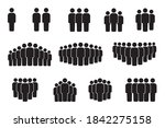 vector icon of crowd persons.... | Shutterstock .eps vector #1842275158