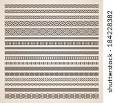set of seamless vector borders | Shutterstock .eps vector #184228382