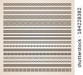 set of seamless vector borders | Shutterstock .eps vector #184228382