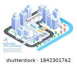 smart grid cities and buildings ... | Shutterstock .eps vector #1842301762
