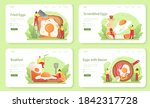 tasty fried eggs with... | Shutterstock .eps vector #1842317728