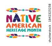 native american heritage month. ... | Shutterstock .eps vector #1842325258