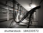 the cellar of an electric... | Shutterstock . vector #184233572