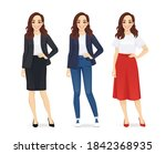 young happy beautiful woman... | Shutterstock .eps vector #1842368935