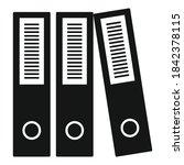 office folders icon. simple... | Shutterstock .eps vector #1842378115
