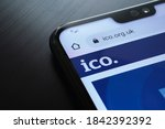 Small photo of Stafford / United Kingdom - October 27, 2020: The Information Commissioner's Office ICO website seen on the smartphone corner. The United kingdom watchdog protects information rights, data privacy.