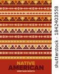 native american heritage month... | Shutterstock .eps vector #1842403558