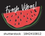 abstract sliced watermelon... | Shutterstock .eps vector #1842410812
