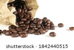 wholebean coffee roasted in the ... | Shutterstock . vector #1842440515
