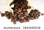 wholebean coffee roasted in the ... | Shutterstock . vector #1842440518