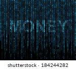 word 'money'  matrix   Shutterstock . vector #184244282