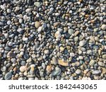 multicolored smooth stones by... | Shutterstock . vector #1842443065