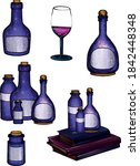hand drawn potions for... | Shutterstock .eps vector #1842448348
