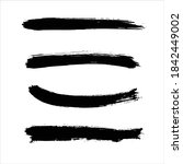black ink paint stroke... | Shutterstock .eps vector #1842449002