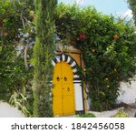 Bright Yellow Gate Entwined...