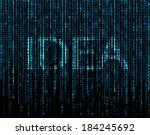 word 'idea'  matrix   Shutterstock . vector #184245692