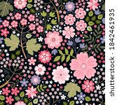 ditsy seamless pattern with... | Shutterstock .eps vector #1842461935
