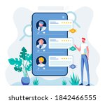 e health staff rating mobile...   Shutterstock .eps vector #1842466555