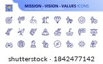 outline icons about mission ... | Shutterstock .eps vector #1842477142
